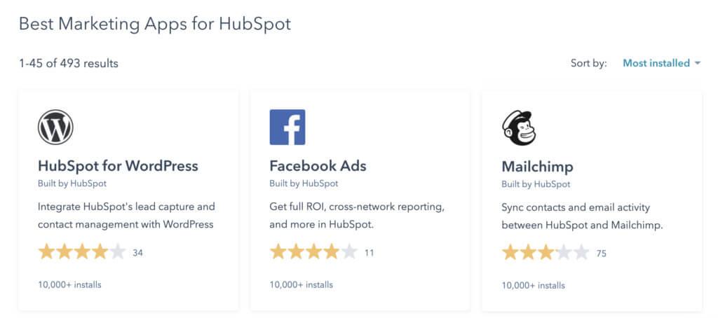 best marketing apps for hubspot