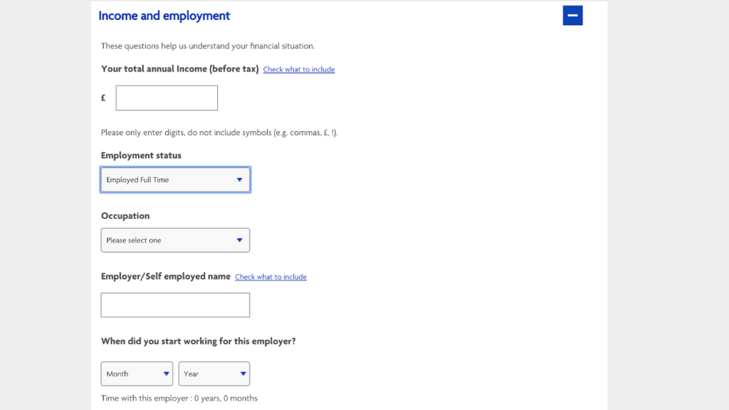 The Halifax request for employment details
