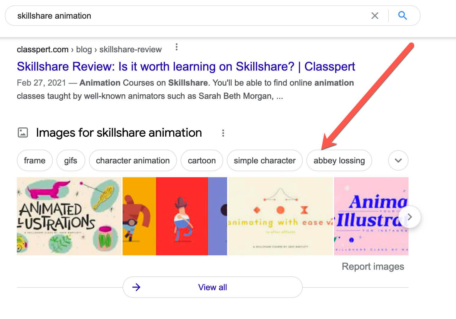 Skillshare Google review.