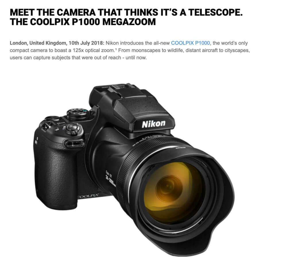 Nikon's press release