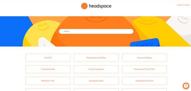 Headspace FAQ page