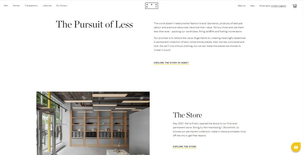ASKET home page screenshot