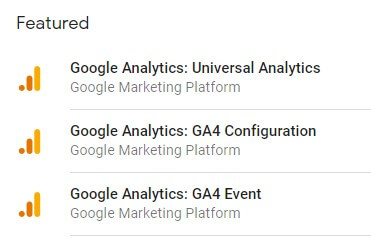 Google Tag Manager GA connections
