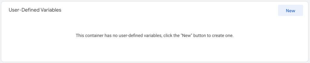 Google Tag Manager user-defined variabels