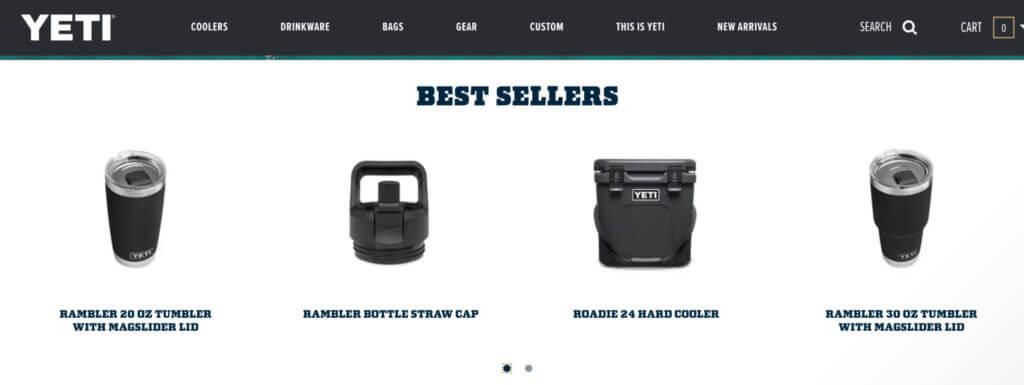 Yeti coolers best sellers