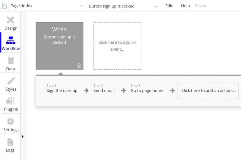 Screenshot of Bubble UI