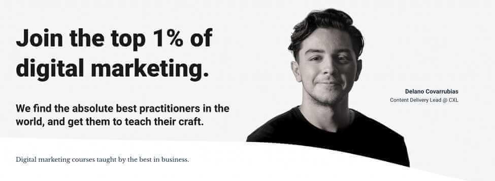 CXL Institute Digital Marketing Programs Screenshot