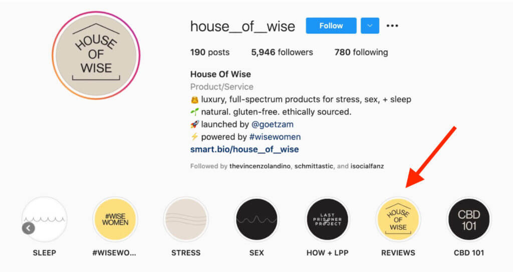 Instagram highlights from House of Wise