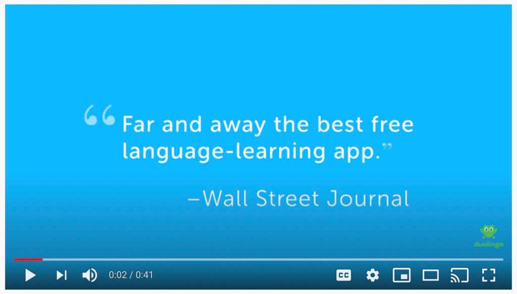 Duolingo demo video