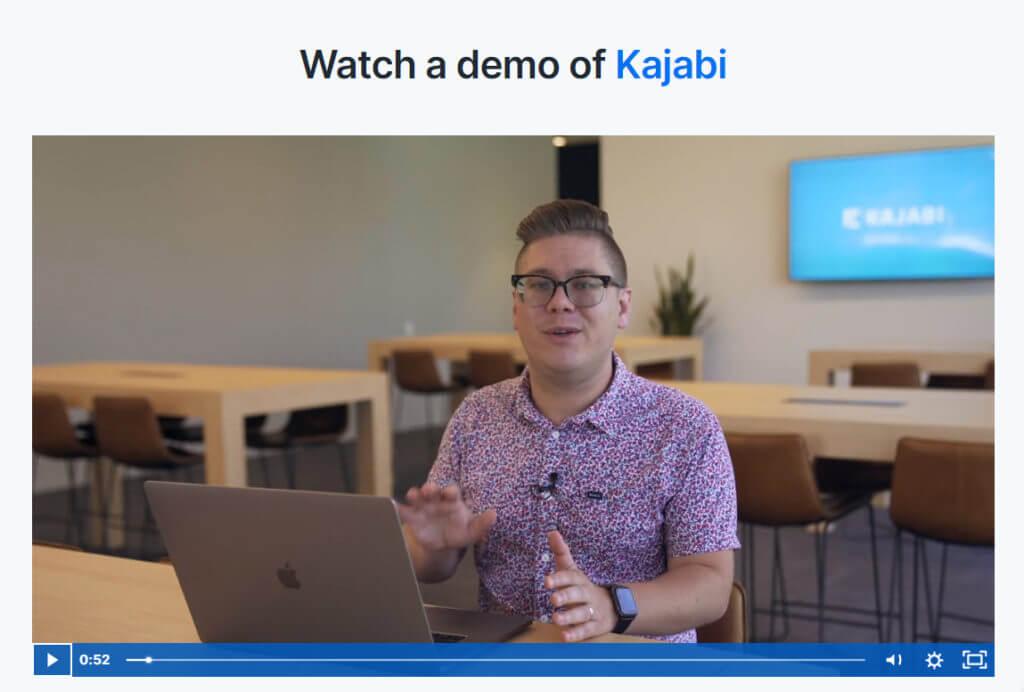 Kajabi video demo