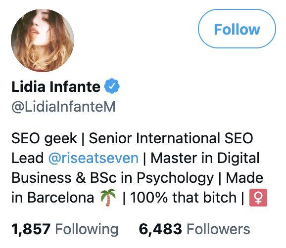 Rise at Seven employee Twitter bio