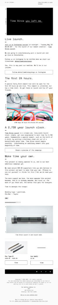 CW&T product launch email