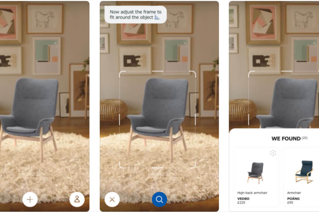 Ikea's augmented reality feature