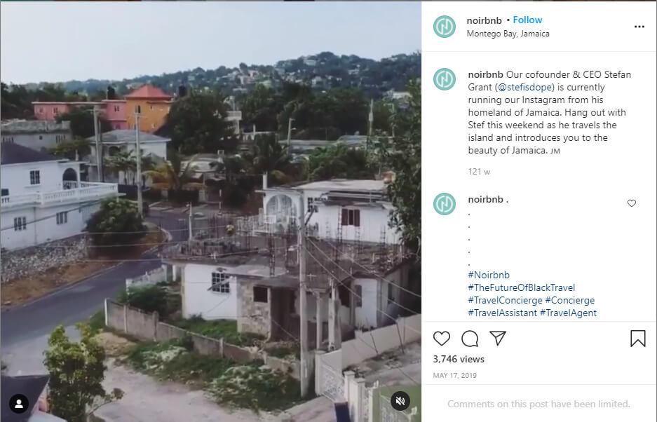 Instagram post from Noirbnb