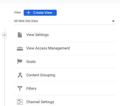 Screenshot of Google Analytics view creation