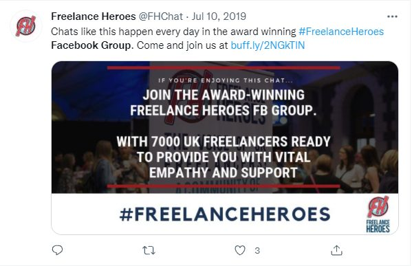 Freelance Heroes Facebook group event