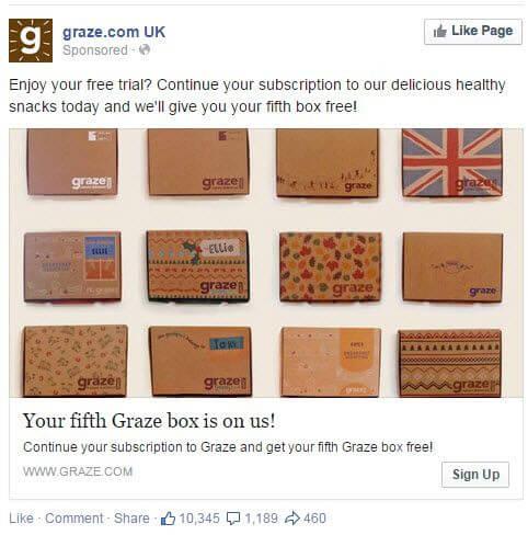 Graze Facebook ad example